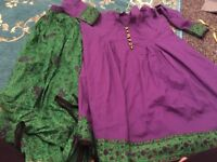 Girls Asian casual cotton lehnga age 11-23 Ideal For Eid Worn once