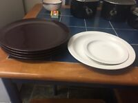 Pack of plates, cutlery, glasses, pans, cups...