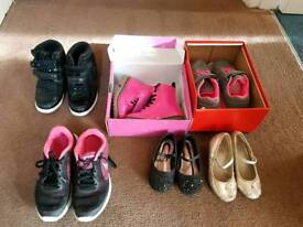 Various girls shoes
