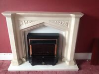 Vintage marble fire surround and hearth