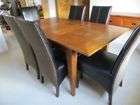 Dining table with 6 chairs and optional console table