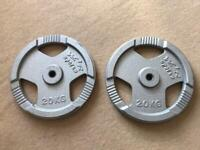 40kg 1 inch Cast Iron Weight plates 2 x 20kg