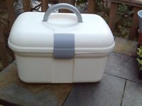 Baby changing box with carry handle and lots of compartments
