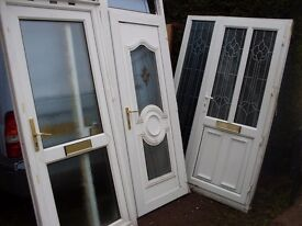 4 upvc doors all minters front and back nice and chunky type ready