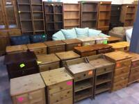 Quality used solid wood / pine bookcase, dresser, display cabinets & more