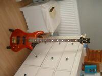 Schecter bass guitar
