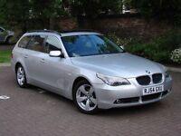 EXCELLENT ESTATE!!! 54 REG BMW 5 SERIES 525I SE AUTO TOURING 5dr. PANROOF, FULL LEATHER, LONG MOT