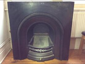 Victorian fire surround, cast iron, beautiful condition.