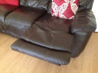 SOLD Harveys Faux-leather Reclinar Two-Seaters and Three-Seaters Sofas