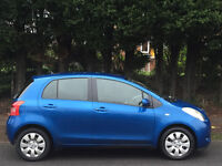 TOYOTA YARIS 1.3 VVT-i T3 2006 06 REG BLUE 5 DOORS 87000 MILES FSH ONE FAMILY OWNED