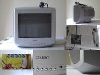 SONY Trinitron Grey COLOUR Small Analogue TV Television KV-14LT1U 14 with Aerial £50 ONO