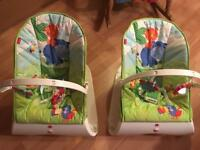 Fisher Price rocking vibrating baby chairs