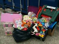 Job lot car boot baby kids toys - doll house work bench mixed toys