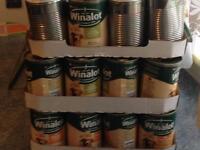 120 cans of Winalot dog food