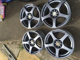 "17""inch multi stud Wolf race alloys"