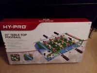 "Brand new hy-pro 20"" table top football. game"
