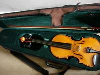 3/4 size Andreas Zeller (Stentor) violin - top-grade instrument bargain@ 1/2 new price (RRP£250+)