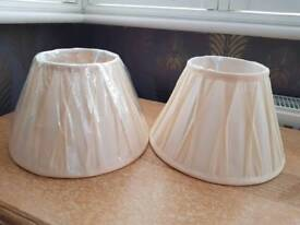 2 x Brand New pinch pleat lamp shades