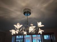 Beautiful Glass & Chrome Ceiling Light Cheltenham Gloucestershire Glos