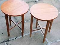 2 Vintage Round Side Tables ? G Plan Era