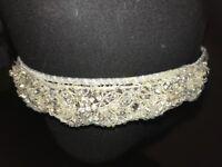 Handmade Swarovski tiara with mid length vale