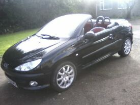 PEUGEOT 206 2-0 COUPE CONVERTIBLE ELECTRIC HARDTOP 2003 (52 PLATE) 89,000 MILES VAST SERVICE HISTORY