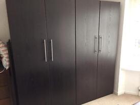 Ikea black wardrobes