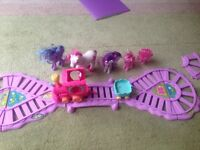 My little ponies with train and train track