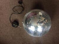 """Large 12"""" Glitter ball and motor"""
