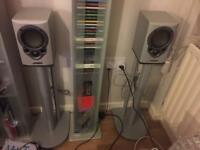 Mission M30 speakers with stands