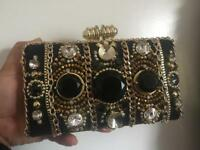 River island clutch evening party bag used