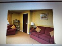 ex M&S 3 piece suite with matching footstool and cushions