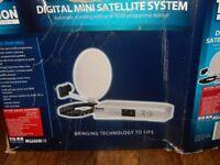 Mobile Digital Mini Satellite System Dish for Caravan Camper Van Motor Home TV