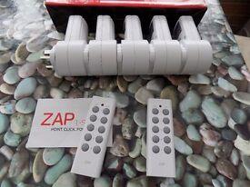 Remote control power sockets (5 sockets, 2 remotes)