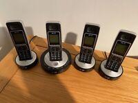 BT6510 Quad Digital Cordless Telephone with Answering Machine