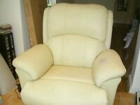 Electric Riser/Recliner Armchair- real leather