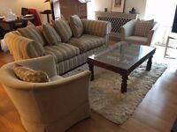 Exclusive Harrod's Sofa Set (2 Armchairs) and Table