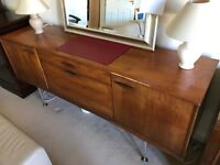 Vintage sideboard with chrome legs