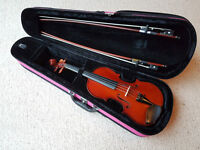 3/4 size Primavera Violin Outfit with quality strings and pink case