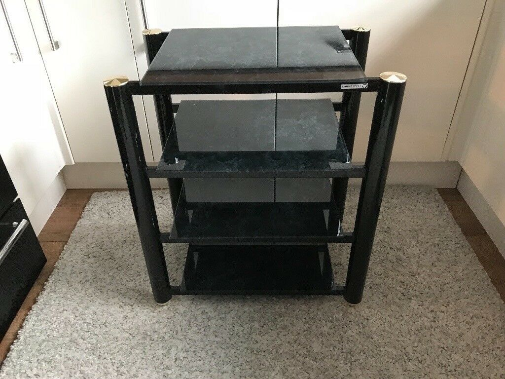SOUNDSTYLE HIGH QUALITY 4 TIER HIFI SEPARATES RACK / STAND RRP £330 WILL SELL £80 - COLLECTION NE25