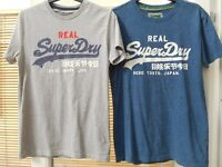 2 x Mens Superdry T-Shirts. Small. *Like New*