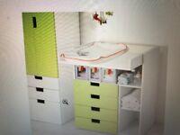 IKEA STUVA CHANGING UNIT (GREEN)