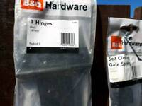 B and Q T Hinges and self closing spring