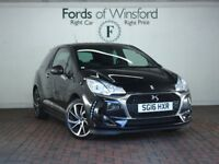 DS DS 3 1.6 Bluehdi 120 Elegance 3dr [Bluetooth, Dab Radio, Parking Sensors] (black) 2016