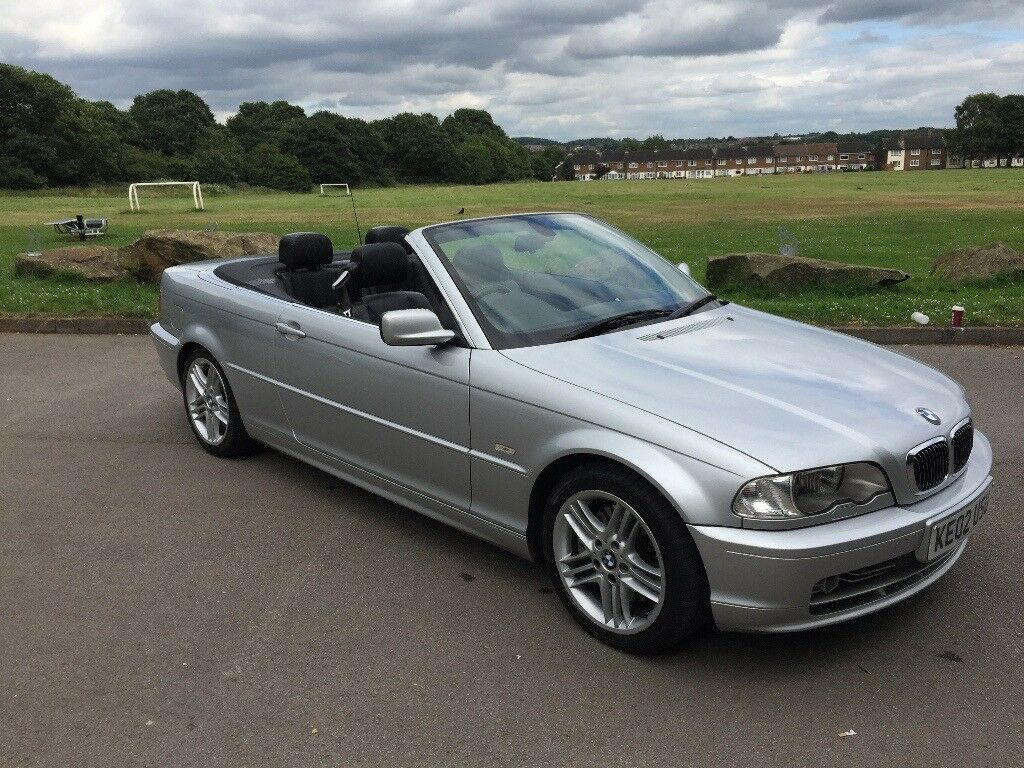 Silver BMW 330Ci Convertible. FSH. 4 carful owners. £1,800 ONO