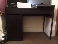 IKEA MICKE DESK IN BLACK BROWN GOOD CONDITION £30 OR BEST OFFER