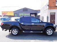Finance me.. Mitsubishi L200 Barbarian 4x4 Black with black leather interior & sat nav (52)