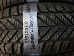 1 winter tire Goodyear ultra grip 215/65r16