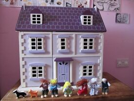 Dolls House, furniture and figures