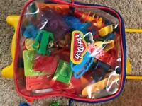 PlayDoh suitcase and box full of accessories